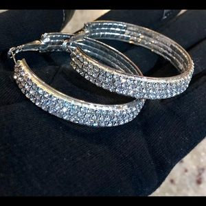 New York & Company Jewelry - 🚫SOLD🚫Gorgeous Sparkly Hoop Earrings